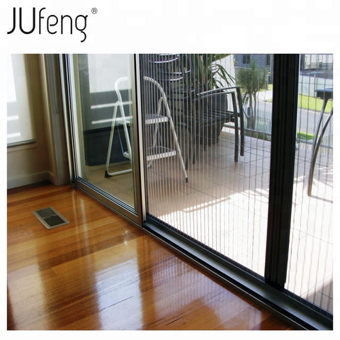 Aluminum profile plisse net flyscreen for bifold doors on China WDMA
