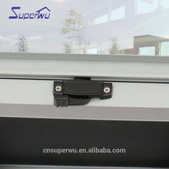Aluminum single hung windows double glazed dust proof window with flyscreen on China WDMA