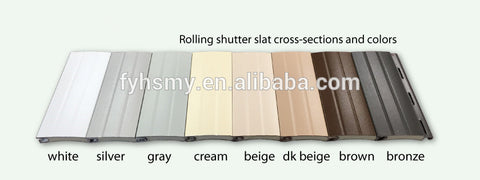 Aluminum slat for roller shutter doors/windows made in china,37/42/50/55/65/77/100/120mm on China WDMA