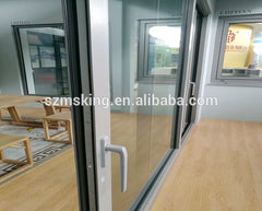 Aluminum sliding glass patio doors with big size tempered glass for commercial use on China WDMA