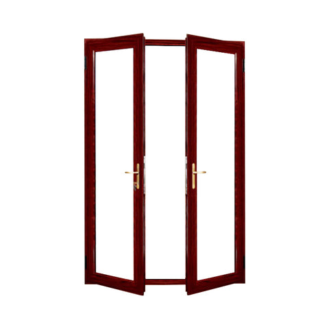 Aluminum soundproof french door casement doors for sale on China WDMA