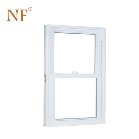 Aluminum soundproof glass american style single hung sash window
