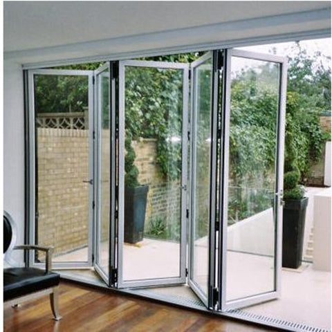 Aluminum tempered glass interior aluminum folding glass patio doors on China WDMA
