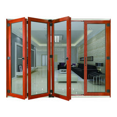 Aluminum transparent glass new design accordion glass doors with factory price on China WDMA