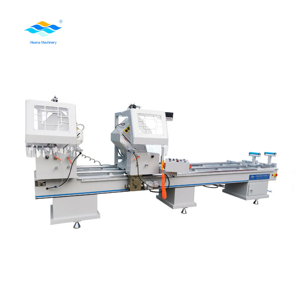 Aluminum window doors ,Double head Mitre Saw cutting machine for aluminum window fabrication on China WDMA