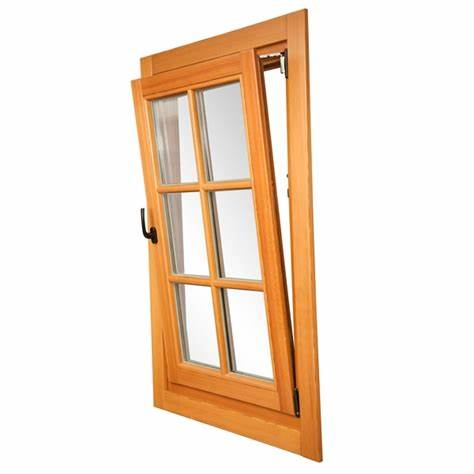 Aluminum wood doors and Windows teak main window design wooden door and window frame UB90433 on China WDMA