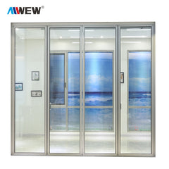 Alwew China Aluminum Balcony Patio Foldable Glass Folding Door Manufacture on China WDMA