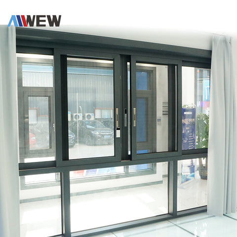 Alwew new design smart/automatic/electric sliding aluminium windows and doors/aluminum double glazed windows and doors on China WDMA