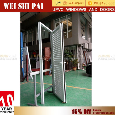 American Standard Vinyl Louvered French Doors , White Upvc Door Louvre Lowes on China WDMA on China WDMA