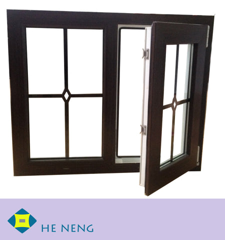 American Style PVC Crank Open Handle Vinyl Casement Windows on China WDMA