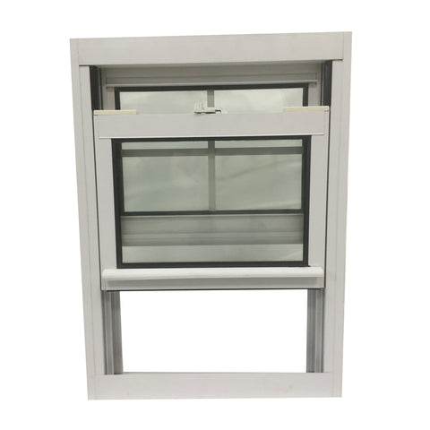 American Type PVC Double Hung Sash lift Up Vertical Sliding Window on China WDMA