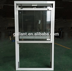 American design white color aluminum single hung window on China WDMA