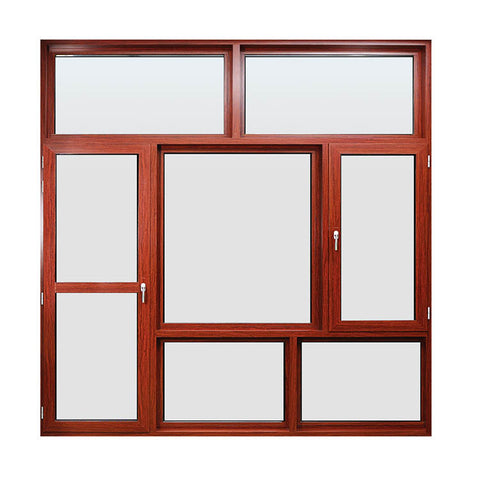 American standard high quality double laminated glazing hurricane impact aluminium frames windows on China WDMA