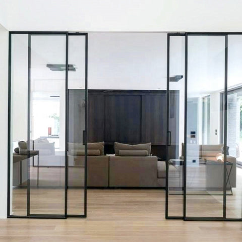American widespread frameless glass frosted internal bunnings double top hung sliding patio doors for sale on China WDMA