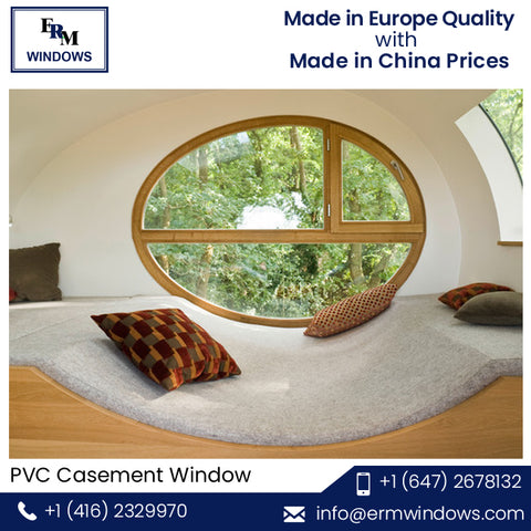 Arch Design Wind Proof UPVC Frame PVC Casement Window on Sale