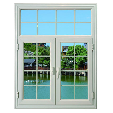 Arch window french casement windows aluminum glass door with grill design on China WDMA