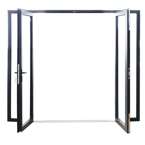 As2047 standard soundproof aluminum patio balcony double glaze french glass door/casement door for balcony on China WDMA