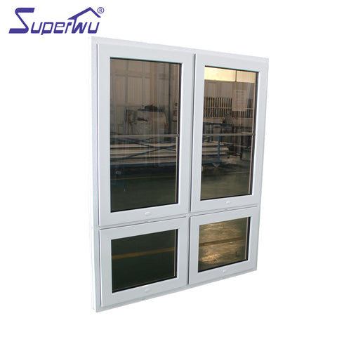 Au & Nz upvc tempered glass double glazed casement windows on China WDMA