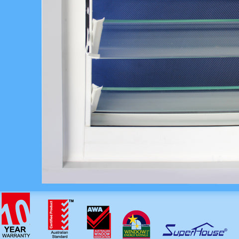 Australia Hot Sale Aluminum Frame Breezeway Glass Louvre Window with Flyscreen on China WDMA