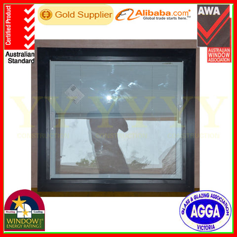 Australia standard as2047 double glass aluminum frame curved fixed window with high quality on China WDMA