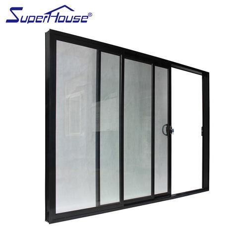 Australia standard exterior use most popular design 3 panel sliding patio door with fiberglass flyscreen on China WDMA