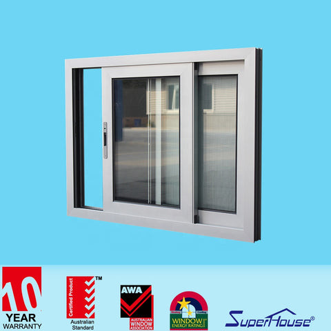 Australia standard high impact double glazed sliding window with fin installation for container house on China WDMA