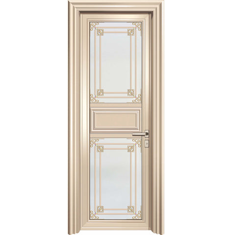 Australia standard residential use high quality heavy duty aluminum french doors with toughened glass on China WDMA