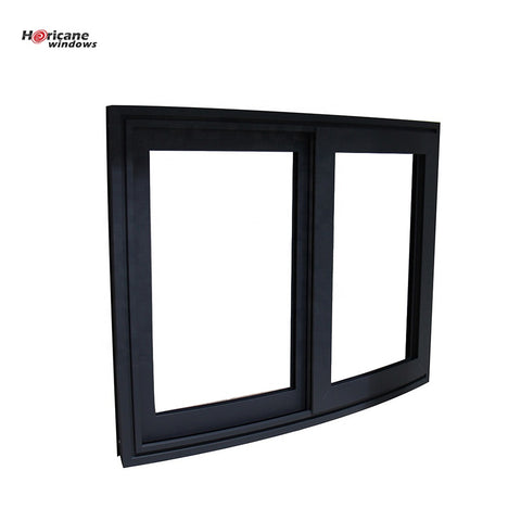 Australian American standards custom aluminium frame curved sliding glass windows on China WDMA