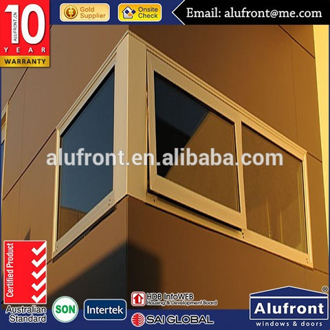 Australian Standard Commercial Aluminum Awning Window with sub sill sub heads and angles for installation on China WDMA
