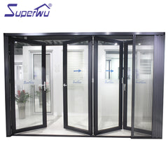 Australian standard AS2047 Cheap interior double glazed aluminium accordion folding doors on China WDMA