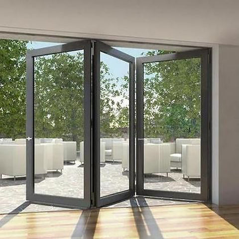 Australian standards double glazing lowes bi fold door/Accordion aluminum glass patio exterior bifold doors on China WDMA