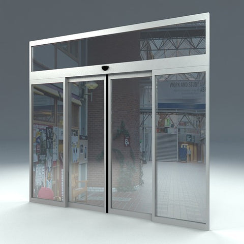 Automatic Sensor Glass Sliding Door System for Frameless Door or Frame Door HD-150 on China WDMA