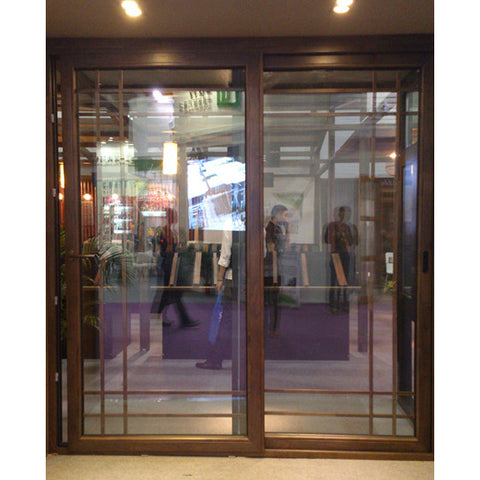 Automatic sensor glass sliding doors of stainless steel frame on China WDMA