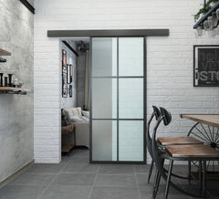 BLACK STEEL FRAME SLIDING GLASS DOORS on China WDMA