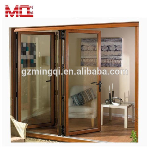 Balcony large lowes bi fold door/Accordion aluminum glass patio exterior bifold doors /double glazing bi-fold door on China WDMA