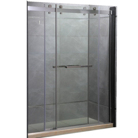 Bathroom glass sliding shower screen 3 panel shower door on China WDMA