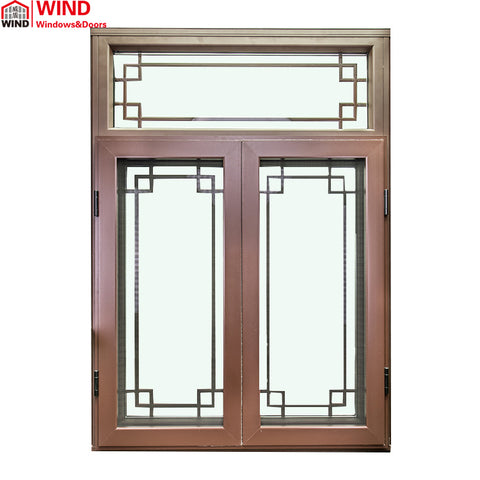 Beautiful Grill Design Inward Open Aluminum Clad Timber Casement Windows on China WDMA