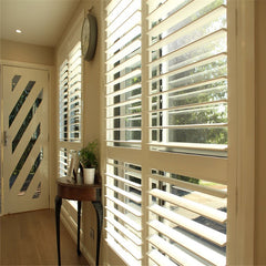 Bedroom bi fold hardwood plantation shutters for door at good price on China WDMA
