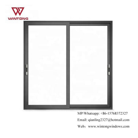 Best Price New Design Double Glazing Glass Door Blind inside Double Glass Window Aluminum Sliding Patio Doors on China WDMA