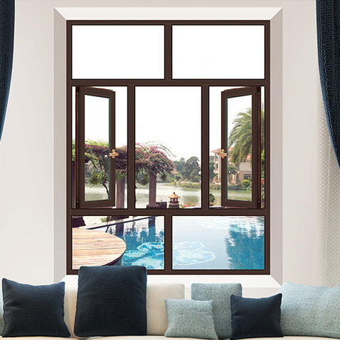 Best Selling Removable Jalousie Glass Double Glazing Sash Casement Blind Windows on China WDMA