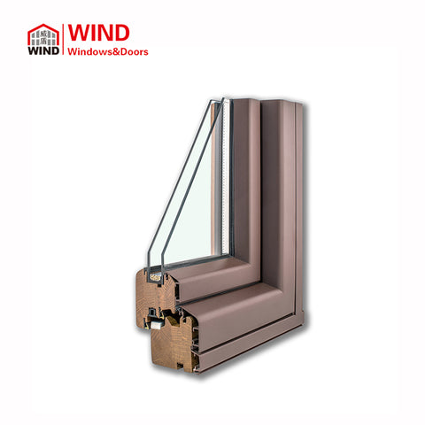Best Soundproof American Style Garden Windows Metal Clad Wood Windows on China WDMA