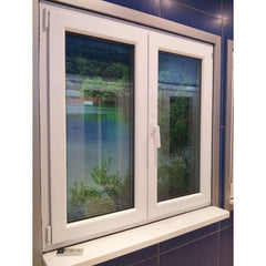Best quality upvc sliding window grill design double toughened glass PVC window for home