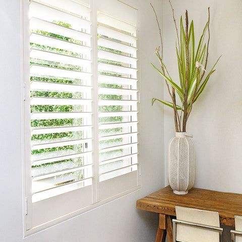 Best sell interior customized window wood folding shutter indoor from china on China WDMA