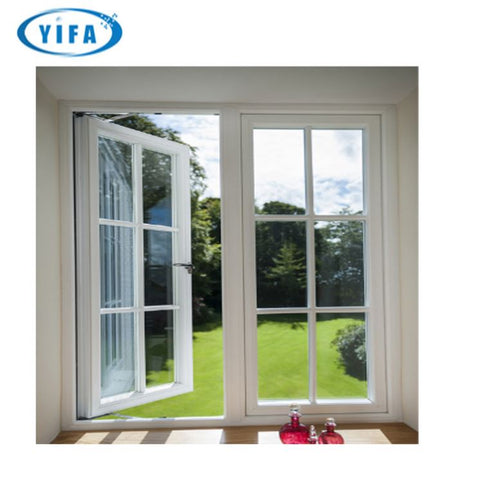 Best selling products aluminium frame casement window aluminum hand crank with fixed glass China Big Manufacturer Good Price on China WDMA