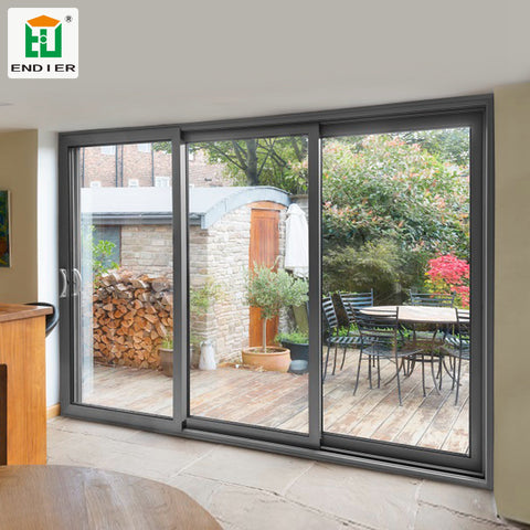 Best selling sound proof patio screen partition wall sliding door aluminium alloy sliding door for fair price on China WDMA