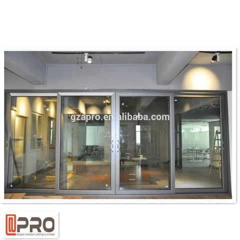 Best used windows and doors aluminum sliding door with picture frames and integrated blinds on China WDMA