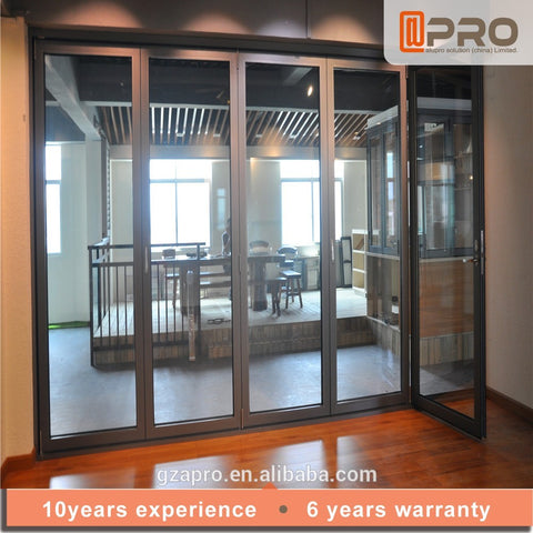 Big Size french accordion bi-fold Louvre House Double Glass Bifolding Design Strong Room Doors on China WDMA