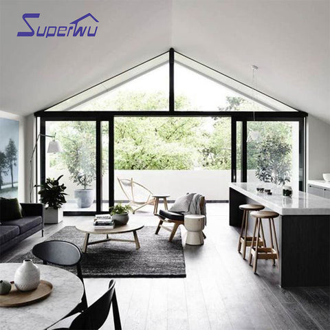 Big view Aluminum fixed window sliding door for house balcony french doors on China WDMA