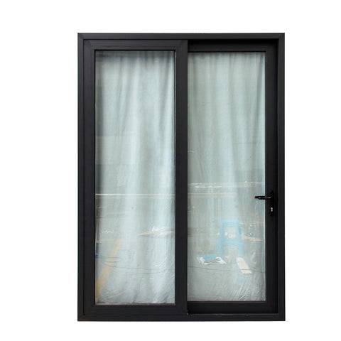 Black aluminum frame triple glazed sliding glass doors with german brand on China WDMA