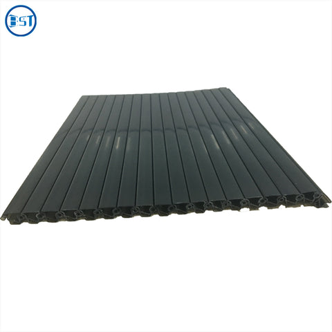 Black and white plastic door for wooden cabinet roller shutter door on China WDMA